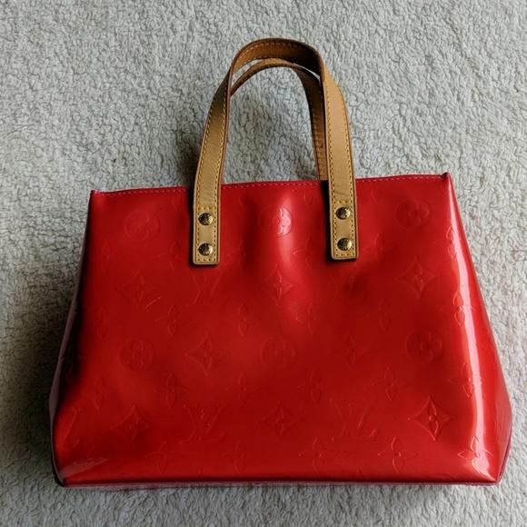 Louis Vuitton Handbags - Louis Vuitton Red Vernis Small Hand Bag